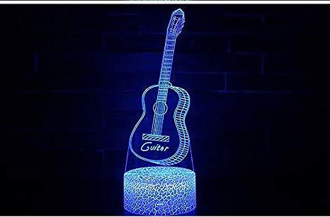 Vitila Guitarra 3D Led Ilusión Luz Noche Luz Mesita De Noche ...
