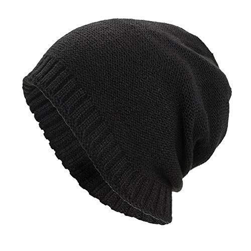 GOVOW Skiing Hats Men Women Warm Baggy Weave Crochet Winter Wool Knit Ski Beanie Skull Caps Hat