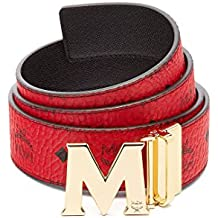 MCM Men's Gold M Buckle Reversible Belt