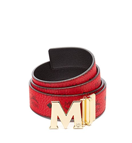 MCM CLAUS REVERSIBLE BELT Accessory, -Ruby Red, One Size (PRODUCT)RED by MCM