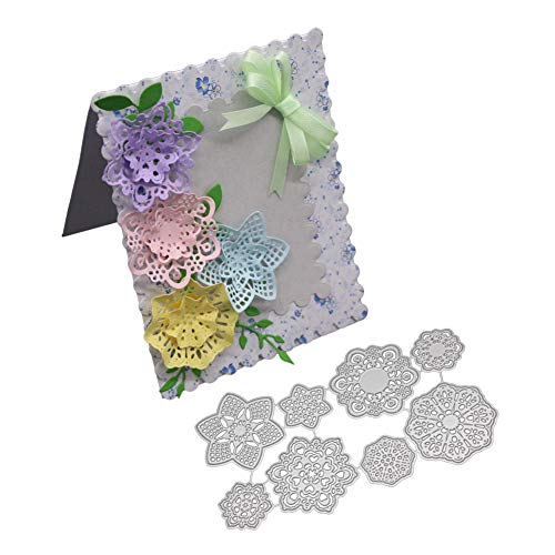 Templates Card Craft (Flower Leaves Cutting Dies Handmade DIY Stencils Template Embossing for Card Scrapbooking Craft)