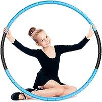 Hula Fitness Hoop voor kinderen E-More Hoola Hoops Kids Verstelbaar Gewicht en Maat Afneembare oefenhoepel Geschikt voor…