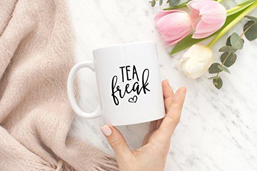 Tea Freak Mug, Coffee Mug, Ceramic Mug, Funny Coffee Mug, Gift For Him, Gift For Her, Gift Idea For Friends, 11oz - Sunglasses Freak