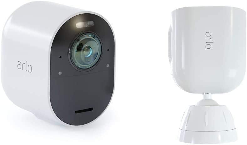 Caméra Ultra 4K Hdr (Station D'Acceuil Non Incluse) et Support Aimanté Blanc...