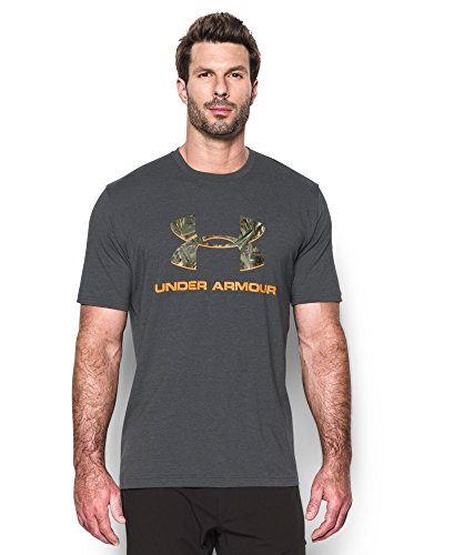 Under Armour Men's Camo Fill Logo T-Shirt, Carbon Heather (091), X-Large