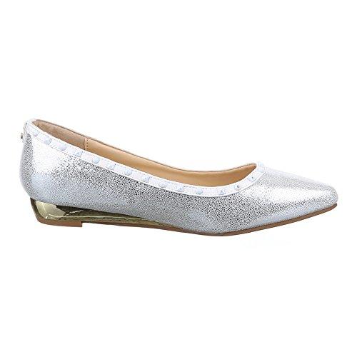 Ital-Design Women's Pumps White - Weiß Silber Semr5QT0