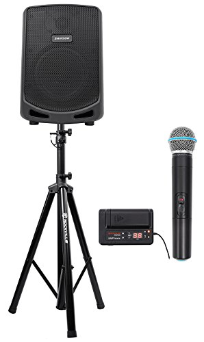 Samson Expedition 6'' Portable Rechargeable Bluetooth PA DJ Speaker+Mic+Stand by Samson Technologies