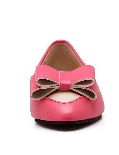 Bailarina pink 5 pink red us10 eu36 cn43 uk8 us6 5 us10 Planos mujer ZQ Negro Tac¨®n eu42 Zapatos cn43 Semicuero eu42 5 Plano Rojo 5 Casual Azul cn36 Rosa de uk8 uk4 Puntiagudos wwXqFx16