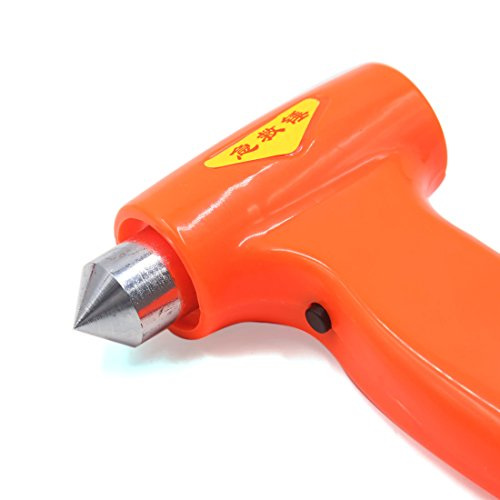 uxcell Orange 3 White LED Metal Tip Emergency Safety Hammer Seatbelt Cutter for Car by uxcell (Image #2)
