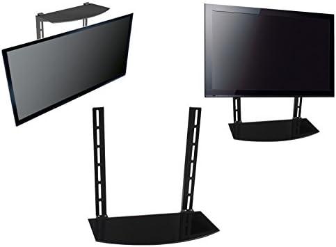 Simply Silver - Soporte de Pared para televisor, Estante de Cristal por Debajo de la TV, Soporte de Pared, componente, Caja de Cable DVR DVD: Amazon.es: Electrónica