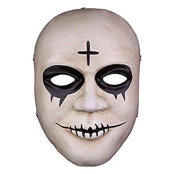 La Purga resina cruz fiesta de Halloween Horror máscara payaso traje de Cosplay