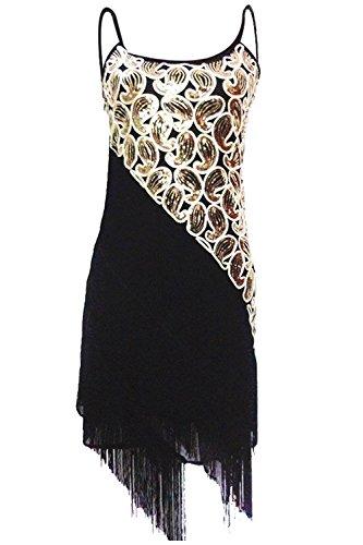 Vijiv Women's 1920S Sequin Tassle Fringe Latin Dance Dress (Latin Dancing Costume Patterns)