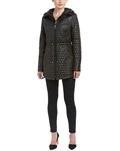 Quilted Coat Laundry (Laundry by Shelli Segal Women's Quilted Anorak, Black, X-Large)