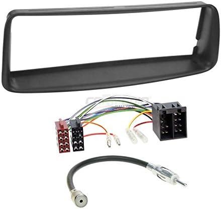 Peugeot 206 CC 00 – 07 de 1 DIN para Radio de Coche Set en Original Plug & Play Calidad con Antena Adaptador, Radio Cable de conexión, Accesorios y ...