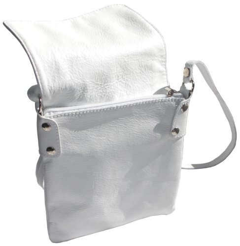 Mensajero Italian Bolso Body Primo Sacchi® De Medium Cuerpo And Bag Leather Mano Small Blanco Pequeño Soft White Y Small Italian Almacenamiento De Marca Protección De Pequeño Primo Hizo Hand Shoulder Suave Bolsa Messenger De Una Cuero Transversal Incluye Bag Sacchi® Storage Cross Hombro Protective Handbag A Branded Medio Includes Made SqpSaT