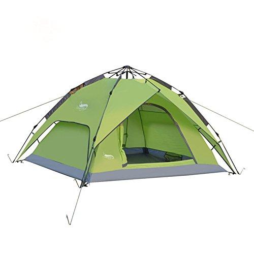 電気家畜具体的にワンタッチテント テント ANLNE 3~4人用 設営簡単 防災用 2WAY キャンプ用品 撥水加工 紫外線防止 登山 折りたたみ 防水 通気性 アウトドア 秒速設営 3色選択可能
