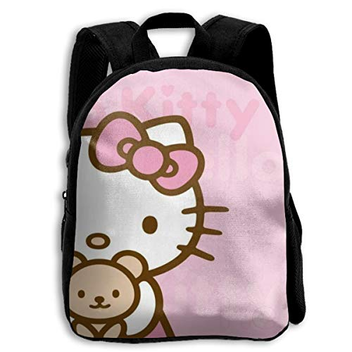CHLING Kids Backpack Hello Kitty with Bear Print