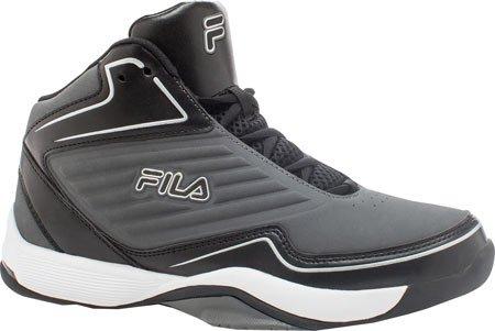 Fila Men's Import Basketballschuh Zinn, Schwarz, Metallic Silber