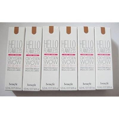 6 Benefit Hazelnut Hello Flawless Brightening Makeup Travel Size .17oz. Each