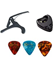 Acessórios violão Capotraste Palhetas e Porta Palheta Kit