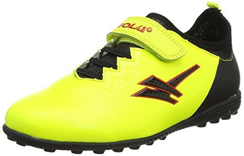 Gola Alpha VX Velcro, Botas de Fútbol Unisex Niños Amarillo (Volt/black)