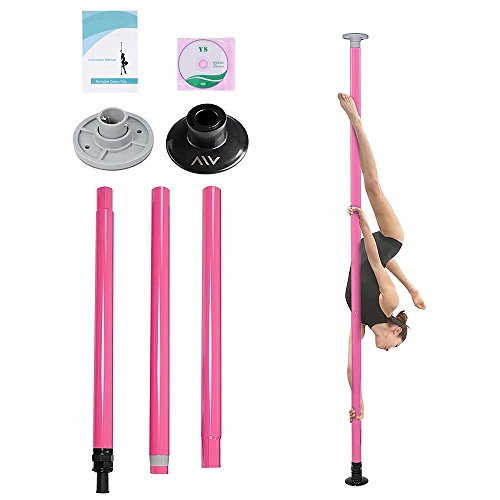 AW Portable Dance Pole Full Kit Package Exercise Club Party Weight Loss Fitness 50mm w/ Bag (Portable Pole Dancing Kit)