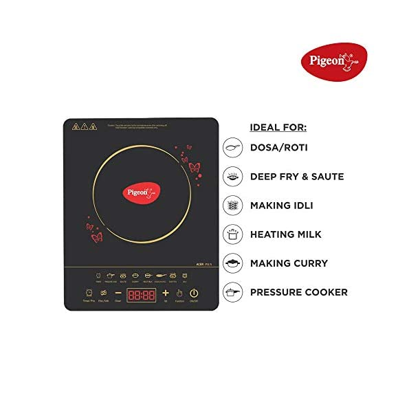 Pigeon-by-Stovekraft-ABS-plastic-Acer-Plus-Induction-Stovecooktopchula-of-1800-watts-with-Feather-touch-control8-preset-menu-and-automatic-shut-offA-smart-electric-stove-for-your-own-kitchenBlack