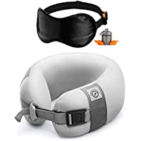 PACK4TRACK Adjustable Neck Support Pillow for Airplane Travel