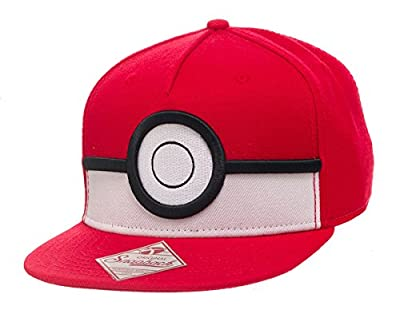 Official Pokemon 3D Poke ball Snapback Cap Hat - Baseball New Adult One Size by Pokemon