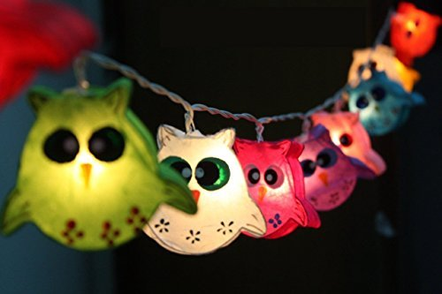 Cheap Night Lights Owl Lamp Hanging Lights for Childern Bedroom Decoration 20 Lights/set by Thai Decorated.