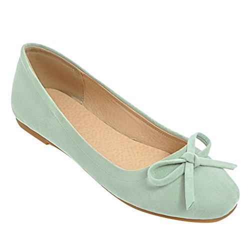 52ce186db1fd Mee Shoes Damen Flach mit Schleifen Geschlossen Pumps Grün - kath ...