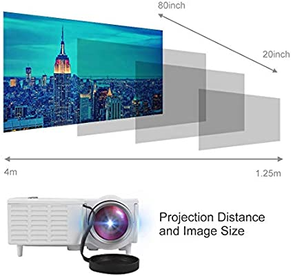 Tosuny Mini Proyector 1080P, Multimedia Vídeo Proyector LCD ...