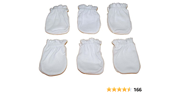 HN Newborn Cotton Baby Mittens 4 pairs boy girl unisex anti scratch Mitts Placi