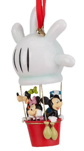 Disney Store Mickey Mouse Clubhouse Balloon Christmas Sketchbook Ornament Figurine with Mickey Mouse, Minnie Mouse, Donald Duck and Goofy
