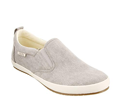 - Taos Footwear Women's Dandy Grey Wash Canvas Slip On 10 M US