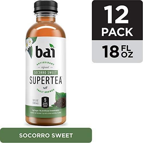 Bai Iced Tea, Socorro Sweet, Antioxidant Infused Supertea, Crafted with Real Tea (Black Tea, White Tea), 18 Fluid Ounce Bottles, 12 count (Moonshine Sweet Tea)