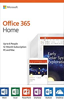 Microsoft Office 365 Home | 12-Month Subscription, PC/Mac Key Card