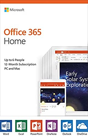 Microsoft Office 365 Home | 12-month subscription, up to 6 people, PC/Mac Activation Card by Mail