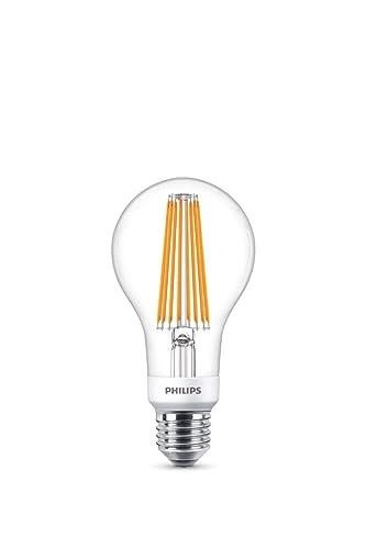 Philips bombilla LED de filamento efecto vintage, casquillo gordo E27, 12 W equivalentes a