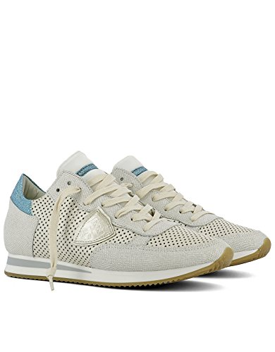 Philippe Sneakers Women's White Leather Model TRLDVP12 PqrOwPf