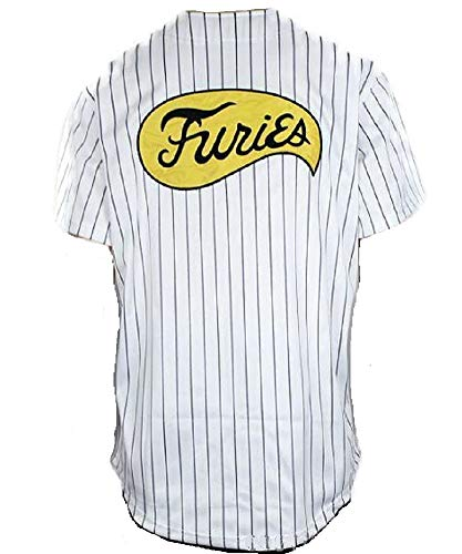 Furies Style Striped Baseball Jersey Shirt Costume T-Shirt (Large) (Striped Baseball Jersey)