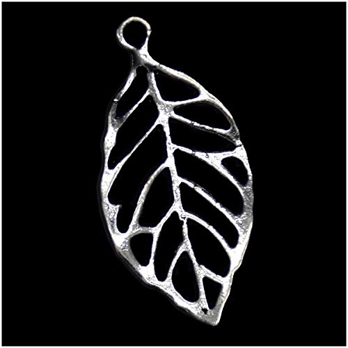 - Pack of 80 Hollow Leaves Charms Pendants Silver Craft Supplies for Jewelry Making Tibetan Accessories for Bracelets Necklace DIY