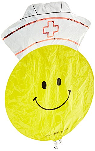 Betallic 85197 Smiley Nurse Shape Foil Flat Balloon, 28