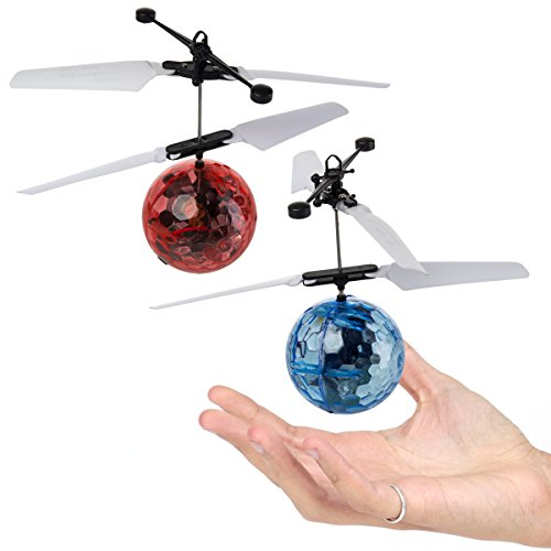 2 Pack Flying Ball Helicopter Toy LED Light Up RC Style Induction Drone Kids Adults Boys Girls (Best Gift For 35 Year Old Man)