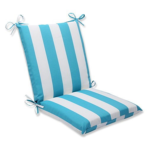 Pillow Perfect Outdoor Cabana Stripe Squared Corners Chair Cushion, Turquoise (Furniture Amazon Pool)