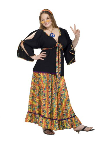 Forum Plus Size Groovy Mama Costume, Red, Plus ()