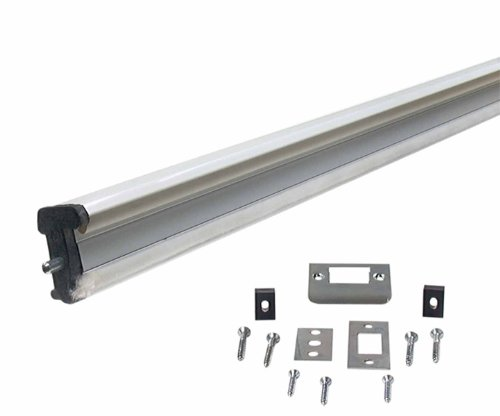 M-D Building Products 70031 96-Inch WS059 Aluminum Locking Slide Bolt Combination Astragal, White