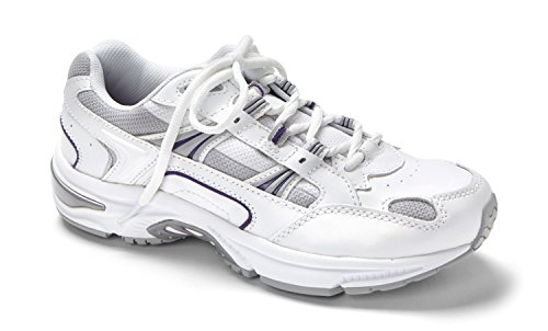 r Classic Shoes, 8.5 B(M) US, White/Purple (Athletic Womens Walker)