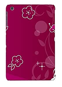 Catenaryoi Snap On Hard Case Cover Purple Flowers Protector For Ipad Mini/mini 2