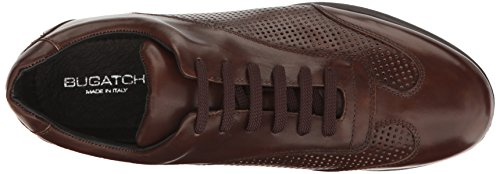Bugatchi Mens Monterosso Fashion Sneaker Marrone